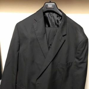 Men's Haggar Black Suit 52r